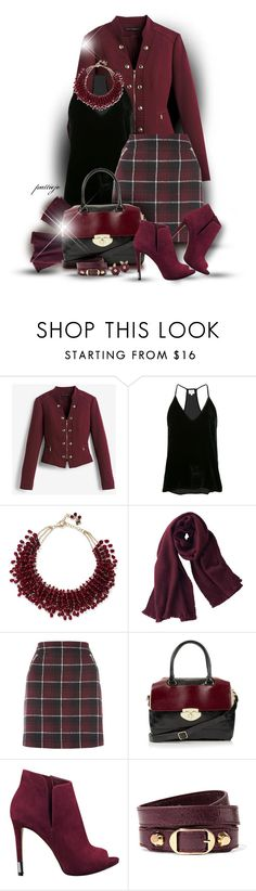 """""""She Loves Short Skirts for Fall"""" by rockreborn ❤ liked on Polyvore featuring White House Black Market, Cami NYC, Rosantica, Uniqlo, Topshop, GUESS and Balenciaga"""