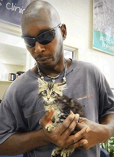 This amazing man risked his family's only vehicle to save a kitten.