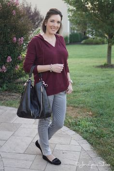 Fall Fashion for Women Over 40: Grey Jeans