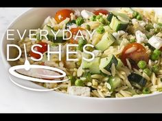 Lemon orzo salad recipe VIDEO - Everyday Dishes & DIY
