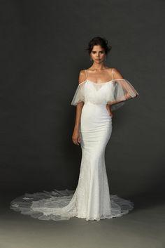 Our stunning Lily dress!! The perfect dress to celebrate a gorgeous feminine silhouette. Grace Loves Lace Untamed Romance collection. www.graceloveslace.com.au #weddingdress #bohemianwedding #laceweddingdress #lace