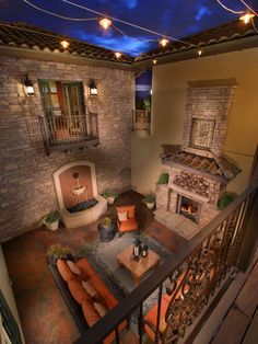 The Overlook At Heritage Hills Mediterranean Porch Denver Celebrity Communities Harold Sunken Courtyard Houses