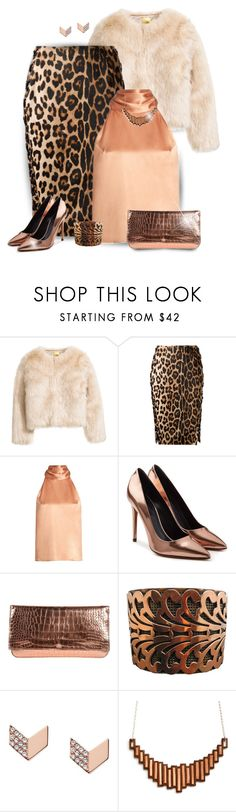 """Complete Glam"" by stileclassico ❤ liked on Polyvore featuring Altuzarra, Galvan, Alexander Wang, Rochas, FOSSIL, Fall, print and animal"