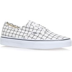 543f3859c89c Authentic Grid Vans White (5.150 RUB) ❤ liked on Polyvore featuring shoes