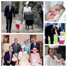 5th July 2015 : Princess Charlotte was christened infront of the Queen and close family and friends as the Cambridges had their first public outing as a family of four. The service took place at St. Mary Magdalene Church on the Queen's Sandringham Estate in Norfolk