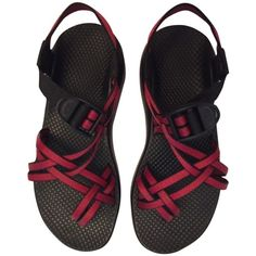 Pre-owned Chaco Zx2/custom Colorado Sole Red Sandals ($110) ❤ liked on Polyvore featuring shoes, sandals, chacos, red, red sandals, chaco, chaco footwear, chaco shoes and chaco sandals