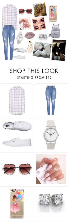 """""""obsession #30"""" by annaconley on Polyvore featuring Current/Elliott, Vans, Normal Timepieces and Casetify"""