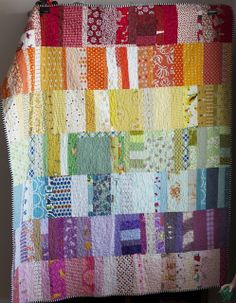 "rainbow scrap quilt from ""a quilt is nice"" blogger: http://www.aquiltisnice.blogspot.com/#"