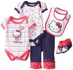 61a549911 Hello Kitty Clothes, Hello Kitty Baby, Stylish Baby Clothes, Cute Baby  Clothes, Baby Girl Newborn, My Baby Girl, Baby Love, Baby Girls, Baby Bling