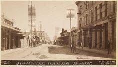 Houston Street from Soledad, San Antonio, Texas, 1910's