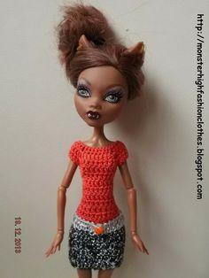 Si te gusta este modelo, no dudes en visitar mi tienda. Los gastos de envio a España son gratuitos: http://mymonsterhighboutique.dawanda.com Monster High vestido V111 von My Monster High boutique auf DaWanda.com