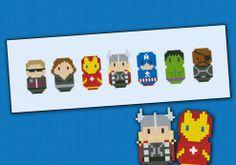 The Avengers chibi - PDF pattern by cloudsfactory