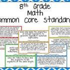 This product will help you display the Common Core standards in your 8th grade Math classroom!!  This file features the Common Core Standards for M...
