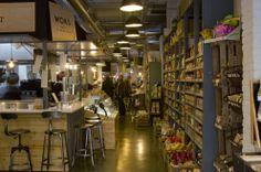 Seis restaurantes muy verdes con un toque 'vintage' - Woki Organic Market, en Barcelona.