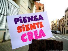 Piensa, siente, crea #EscribiendUnAbrazo #abrazoescrito #abrazo #Mataró
