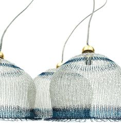 Knitted wire - lampshades - Icy wire handmade Lampshade by Yoola on Etsy