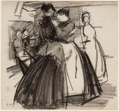 Dancing women in a dance house at the Zeedijk in Amsterdam - G.H. Breitner, ca. 1892-93 - Stadsarchief Amsterdam