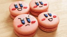 Kirby Macaroons - by Nerdy Nummies