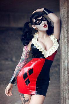 103a7ea836 Harley Quinn Inspired Dress Rubber Latex by PandoraDeluxeLatex