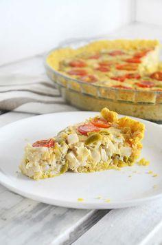 Torta de palmito vegana/ sem gluten  Follow us at https://www.healthyfood365.com/