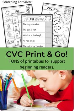 The CVC activity pages in this packet will help students learn to read, identify, use, and write CVC words. You will find a variety of no-prep printables with fun and engaging word work activities. Students will search, unscramble, cut and glue, rearrange, highlight, color, spin, and sort to practice CVC words. #CVC #Kindergarten #wordwork #phonics Kindergarten Centers, Kindergarten Learning, Student Learning, Preschool, Phonics Words, Cvc Words, Word Work Activities, Reading Fluency, Learn To Read