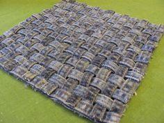 Recycled denim  / blue jean / trivet / hot pad