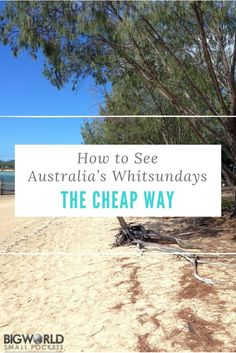 How to See the Whitsundays in Australia Cheaply {Big World Small Pockets}