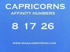 capricorn lucky numbers today