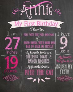 1st Birthday idea would be cool if you could remember to do this each year for their birthday and put it in their baby book/scrapbook