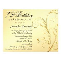 73 Best 75th Birthday Invitations Images 75th Birthday Invitations