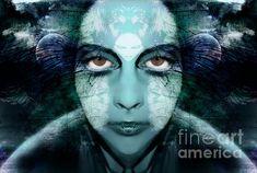 'Flight or fight' by Heather King Heather King, Mirror Art, Fine Art America, Art Photography, Wall Art, Portrait, Anxiety, Artwork, Dark Blue