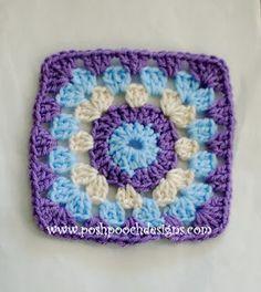 Posh Pooch Designs: Sweet Little Pumpkin Granny Square , Free Crochet Pattern