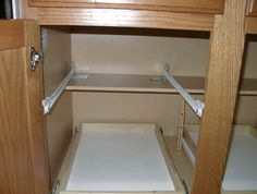 Custom pull out shelving soultions DIY - do it yourself Shelves ...