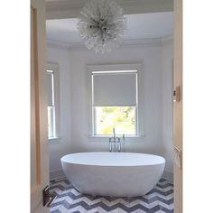 Modern bathroom Courtney Blaymore Interiors #chandelier Courtney Blaymore