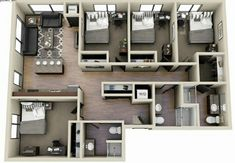 House Plans Mansion, Sims House Plans, House Layout Plans, House Layouts, House Floor Plans, Small Apartment Layout, Sims 4 House Design, Architectural House Plans, Model House Plan