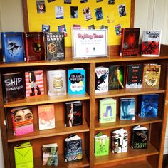 Our display of Rolling Stone Magazine's Top 40 YA Books!