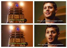 Dean vs. Dalek. I think we know who would win.