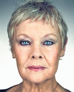 dame judi dench by Martin Schoeller Martin Schoeller, Judi Dench, Ageless Beauty, Too Faced, Aging Gracefully, Helen Mirren, Famous Faces, Role Models, Movie Stars
