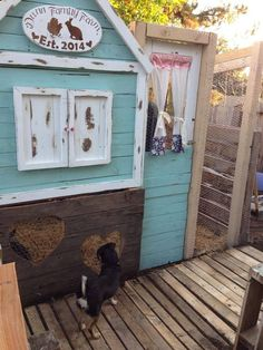 Cute chicken coop. via The Chicken Chick on Facebook.