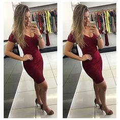 Meninas olha que show esse Dress mid marsala de manguinha curta e golinha V  #corrampraca #novidades #tademais #rosemarymodas Loja (62)3099-7619 WhatsApp (62)9453-1344/9133-2742 by rosemarymodas http://ift.tt/1Z8RM5x