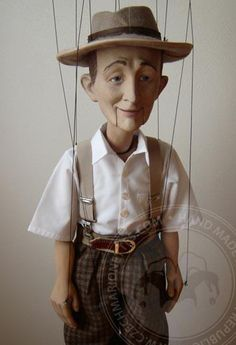 This custom made marionette was created for Mr. Marionette Puppet, Puppets, Stop Motion, Wooden Puppet, Bing Crosby, Puppet Making, Mannequin Heads, Hello Dolly, Art Dolls