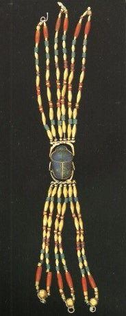 Bracelet c.1400BCE (New Kingdom) Egypt, findspot unknown, gold, lapis lazuli, cornelian and glazed composition, 20.0cm length, British Museum, London
