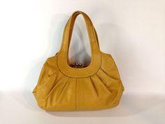 New Coach Ergo Purse F14379 Rare Saffron Hobo Hand Bag Leather Kisslock #Coach #ShoulderBag