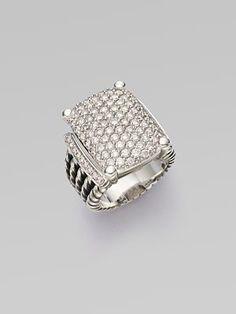 David Yurman - Diamond Pavé & Sterling Silver Ring - Saks.com