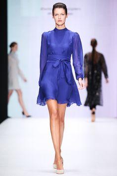 Beresta autumn - winter 2017 , silk dress, deep blue, шёлковое платье, Айвазовский