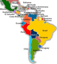 Top 10 Reasons Latin American Countries Are Still Underdeveloped Puerto Rico, Hispanic Countries, Hispanic Heritage Month, Country Maps, Bahamas, Spain And Portugal, American Country, Spanish Lessons, Independence Day