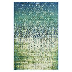Cassidy Rug in Blue & Green