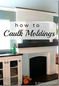 How to Caulk Moldings | remodelaholic.com #caulk #homeimprovement #moldings @Remodelaholic .com .com .com .com