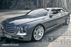 Mercedes 600 Illustration
