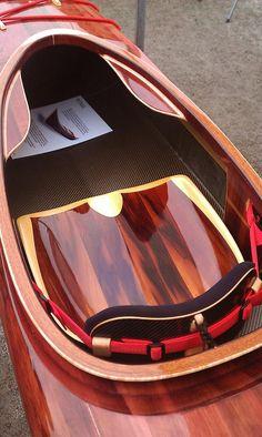Nice work- wooden kayak seating